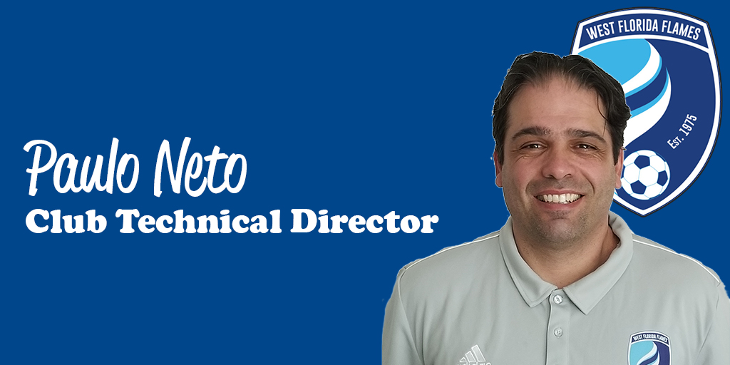 PAULO NETO APPOINTED IN WEST FLORIDA FLAMES ROLE OF CLUB TECHNICAL DIRECTOR