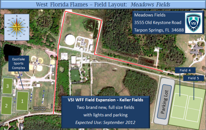 Map Of East Florida.Fields And Maps Jc Handly East Lake West Florida Flames