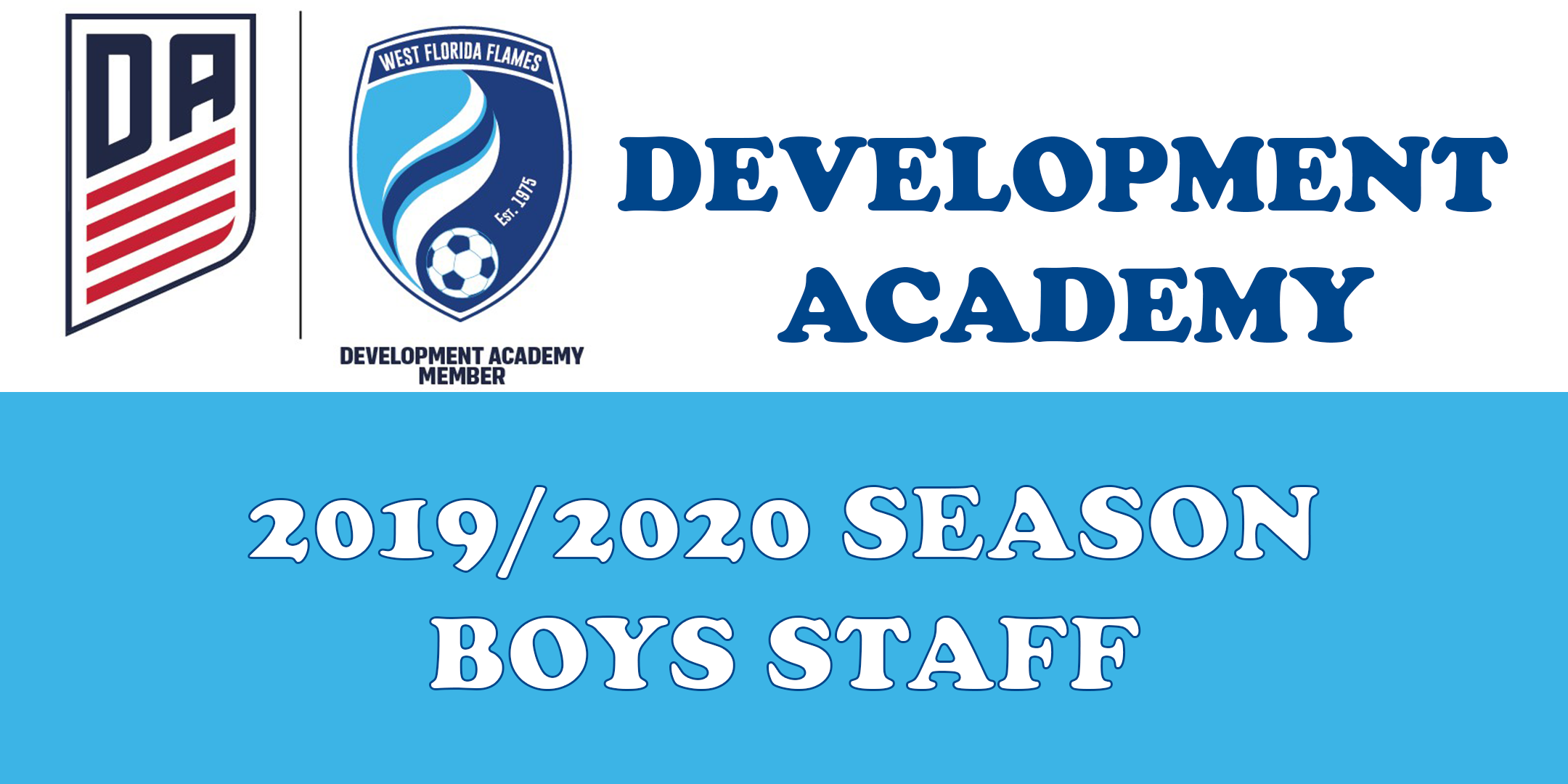 2019/20 Season Boys DA Staff